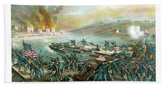 The Battle Of Fredericksburg Beach Towel