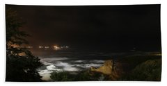 The Bay At Night Beach Towel