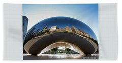 The Bean's Early Morning Reflections Beach Towel