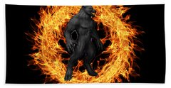 The Beast Emerges From The Ring Of Fire Beach Towel