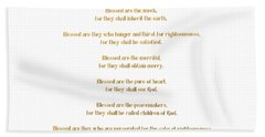 The Beatitudes Gospel Of Matthew Beach Sheet