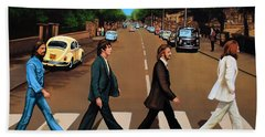 The Beatles Abbey Road Beach Towel by Paul Meijering