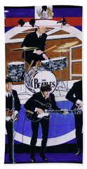 The Beatles - Live On The Ed Sullivan Show Beach Towel