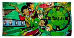 The Beatles - Pinball Art Beach Towel