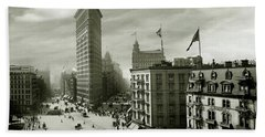 The Beautiful Flatiron Building Circa 1902 Beach Towel