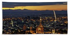 The Beautiful Spanish Colonial City Of San Miguel De Allende, Mexico Beach Towel
