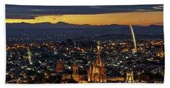 The Beautiful Spanish Colonial City Of San Miguel De Allende, Mexico Beach Towel