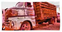 Beach Towel featuring the photograph The Beauty Of An Old Truck by Jeff Swan