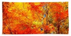 The  Beauty Of Autumn Beach Towel