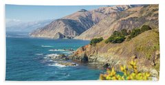 The Beauty Of Big Sur Beach Sheet by JR Photography