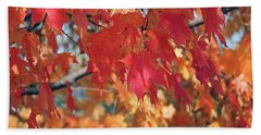 The Beauty Of Fall's Leaves Beach Sheet