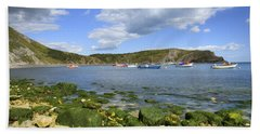 Beach Towel featuring the photograph The Beauty Of Lulworth Cove by Ian Middleton