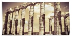 The Beauty Of The Temple Of Poseidon Beach Towel