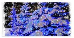 The Beauty Of Winter II - Christmas Card 2016 - 7 Beach Towel by Al Bourassa