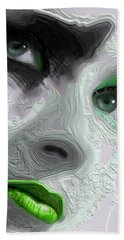 The Beauty Regime Green Beach Towel by ISAW Gallery