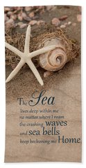 Beach Towel featuring the photograph The Beckoning by Robin-Lee Vieira