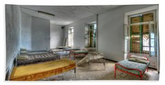 The Bedrooms Of The Former Summer Vacation Building - Le Camerate Dell'ex Colonia Marina Beach Towel