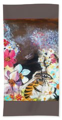 The Bee Beach Towel by Francine Heykoop