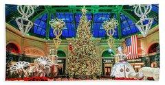 The Bellagio Christmas Tree Panorama 2017 Beach Towel