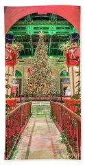 The Bellagio Christmas Tree Under The Arch 2017 Beach Sheet