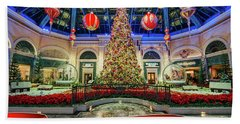 The Bellagio Conservatory Christmas Tree Card 5 By 7 Beach Towel