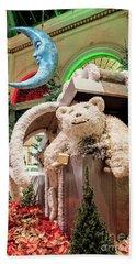 The Bellagio Conservatory Polar Bear Christmas Decorations 2017 Beach Towel