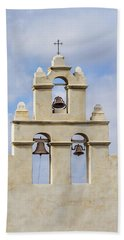 Beach Towel featuring the photograph The Bells Of San Juan by Mary Jo Allen