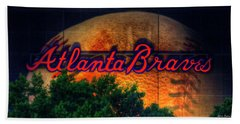 The Big Ball Atlanta Braves Baseball Signage Art Beach Towel