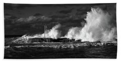 Beach Towel featuring the photograph The Big One by Nareeta Martin