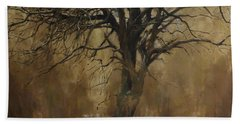 The Big Tree With Wild Boars Beach Towel