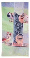 The Bird Feeder Beach Towel