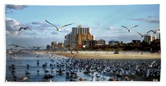 Beach Towel featuring the photograph The Birds by Jim Hill