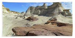 Beach Towel featuring the photograph The Bisti Badlands - New Mexico - Landscape by Jason Politte