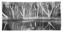 The Black And White Autumn Beach Sheet by Art Ina Pavelescu
