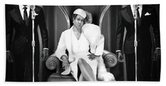 The Black And White Of Aretha Franklin Is The Queen Of Soul Beach Towel