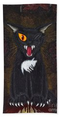 The Black Cat Edgar Allan Poe Beach Towel