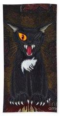 The Black Cat Edgar Allan Poe Beach Towel