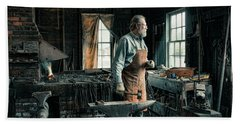 Beach Towel featuring the photograph The Blacksmith - Smith by Gary Heller