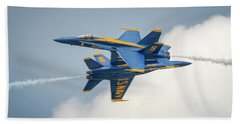 The Blue Angels Close Pass Beach Towel