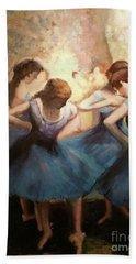The Blue Ballerinas - A Edgar Degas Artwork Adaptation Beach Sheet
