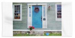 The Blue Door Beach Towel