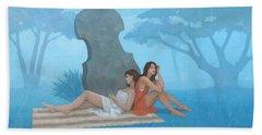 The Blue Garden Beach Towel