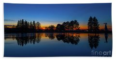 Beach Towel featuring the photograph The Blue Hour.. by Nina Stavlund