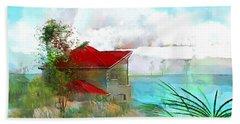 The Blue Lagoon Beach Towel by Wayne Pascall