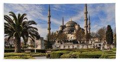 The Blue Mosque In Istanbul Turkey Beach Sheet