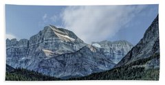 The Blue Mountains Of Glacier National Park Beach Towel