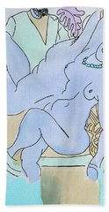 The Blue Nude Beach Towel