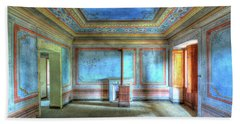 The Blue Room Of The Villa With The Colored Rooms Beach Sheet