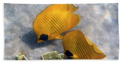 The Bluecheeked Butterflyfish Beach Towel