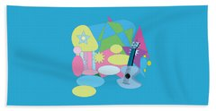 Beach Towel featuring the digital art The Blues by Eleni Mac Synodinos